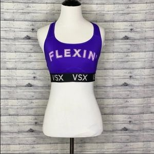 Victoria's Secret Sport Sports Bra Purple Large